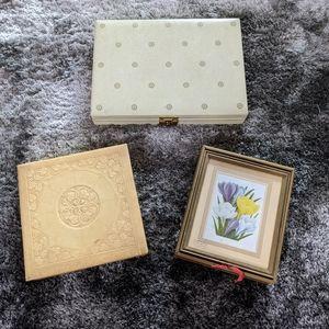Vintage Jewelry or Trinket Boxes